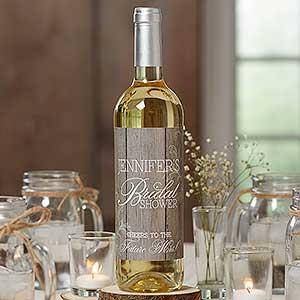 Rustic Bridal Shower Personalized Wine Bottle Labels - 16836