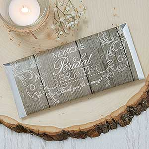 personalized candy bar wrappers rustic bridal shower