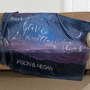 Personalized Fleece Blankets - Love Written In The Stars - 16844