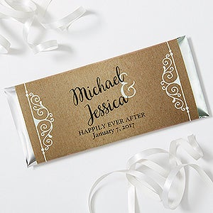 Personalized Wedding Favor Candy Bar Wrappers - Rustic Chic Wedding - 16848