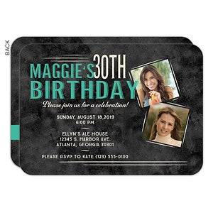 Invite Friends And Loved Ones To Your Next Big Birthday Bash With Personalized Party Invitations Custom Thank You Cards