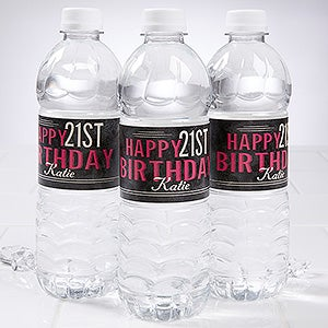 Personalized Birthday Party Water Bottle Labels - Vintage - 16852