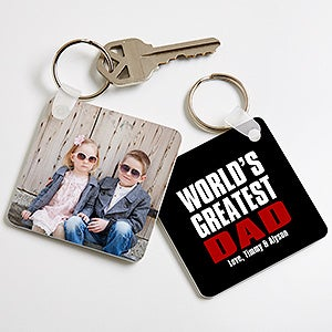 Personalized Photo Keychain - Best Dad Ever - 16858