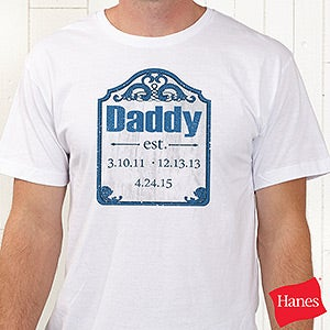 Personalized Apparel For Dads - Date Established - 16860