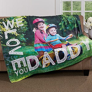 Personalized Photo Fleece Blanket - Loving Him - 16863