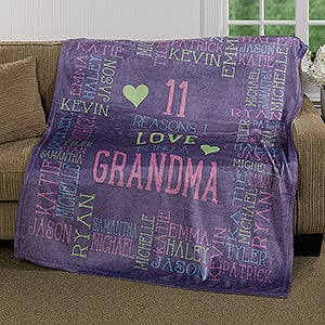 Personalized Fleece Blanket - Reasons Why For Her - 16864