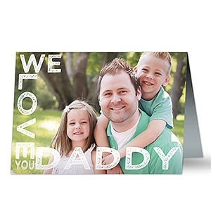 Loving Him Personalized Greeting Card