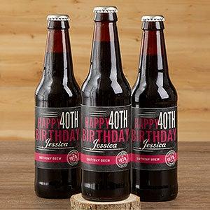 Personalized Birthday Beer Bottle Labels & Bottle Carrier - Vintage Age - 16872