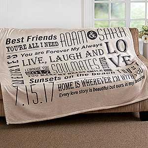 Personalized Romantic Fleece Blanket - Our Life Together - 16882