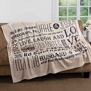 Personalized Fleece Blankets With A Our Life Together Design Free Personalizaion Fast Shipping