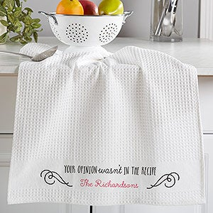 Personalized Waffle Weave Kitchen Towels Set Of 2 - Sassy Cook - 16885
