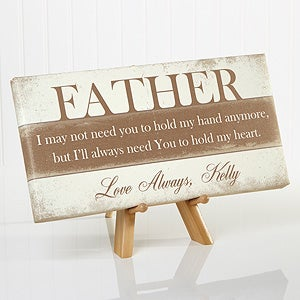 personalized father s day canvas print his words of wisdom