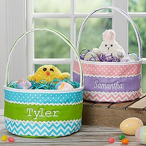 Easter fun embroidered soft easter baskets easter fun embroidered soft easter baskets 16888 negle Images