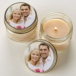 Personalized Mason Jar Candle Favors - You Picture It! - 16909