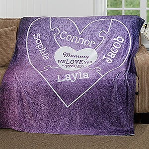 Personalized Fleece Blanket - We Love You To Pieces - 16912