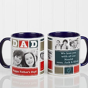 Personalized Photo Coffee Mug - Dad Photo Collage - 16920