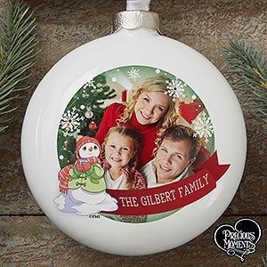 Personalized Precious Moments Family Photo Ornament - 16932
