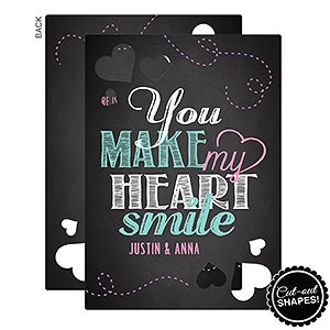 Personalized Romantic Greeting Cards - You Make My Heart Smile - 16942