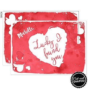 personalized romantic greeting cards lucky i found you