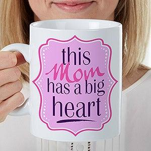 Personalized Oversized Coffee Mug - Big Heart - 16947