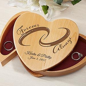 Personalized ring bearer box forever and always personalized ring bearer box forever and always 16954 junglespirit Images