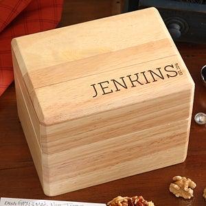 Personalized Recipe Box - Family Name Established - 16961