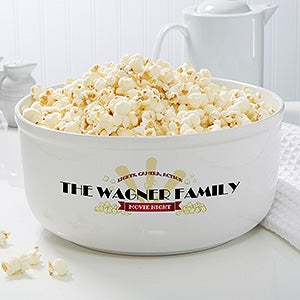 Personalized Snack Bowl - Movie Night - 16965