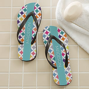 Personalized Adult Flip Flops - Geometric - 16998