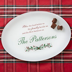 personalized christmas platter christmas blessings