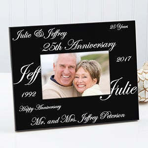 personalized anniversary picture frames forever and always design 1701