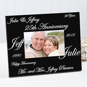 Personalized Anniversary Picture Frames - Forever and Always Design - 1701