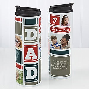 Personalized Photo Travel Tumbler - Dad Photo Collage - 17012