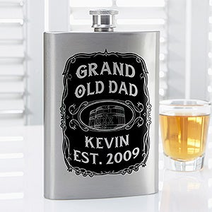 Personalized Flask - Grand Old Dad Whiskey Label - 17014