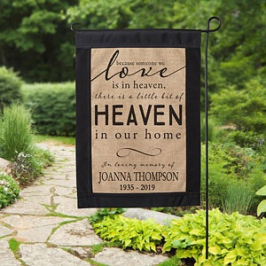 Personalized Memorial Burlap Garden Flag - Heavin In Our Home - 17018