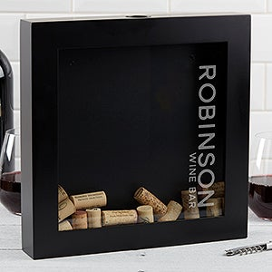 Wine Bar Personalized Wine Cork Shadow Box