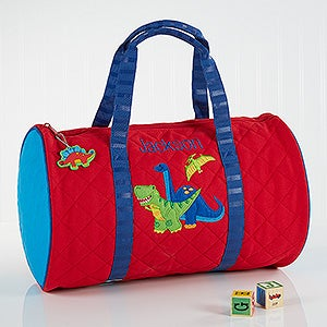 Dinosaur Embroidered Duffel Bag By Stephen Joseph - Red Dino - 17028