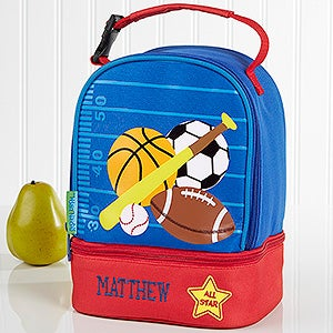 embroidered kids lunch bag by stephen joseph all star sports. Black Bedroom Furniture Sets. Home Design Ideas