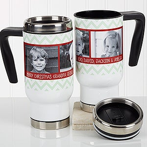 Personalized Christmas Photo Commuter Travel Mug - Picture Perfect Christmas - 17042