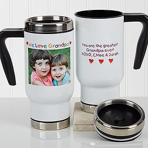Personalied Photo Commuter Travel Mug - Photo Message For Him - 17054