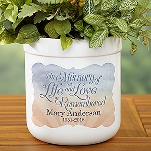 Personalized Memorial Outdoor Flower Pot - In Memory - 17061