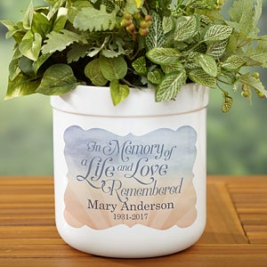 Personalized Memorial Outdoor Flower Pot - In Memory - 17061