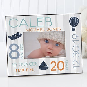 Personalized Baby Picture Frame - Sweet Baby Boy - 17087