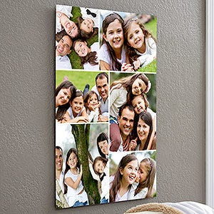 Personalize Chromoluxe Photo Metal Panels - 6 Photo Collage - 17090