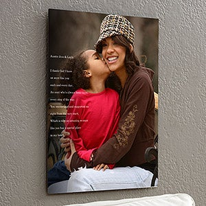 Personalized Chromoluxe Metal Panels - Personalized Photo Sentiments For Her - 17091