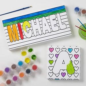 Personalized Kids Coloring Canvas Prints - Paint It! - 17095