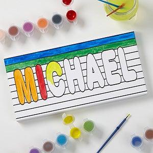 Personalized Kids Art Canvas Prints - Paint It! - 17095