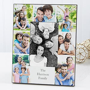 Personalized Family Photo Picture Frame - Printed Photo Collage - 17099