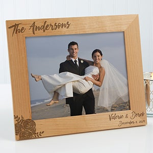 Personalized Wood Frames - Modern Chic Wedding - 17109