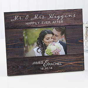 Personalized Wedding Picture Frame - Rustic Elegance - 17110
