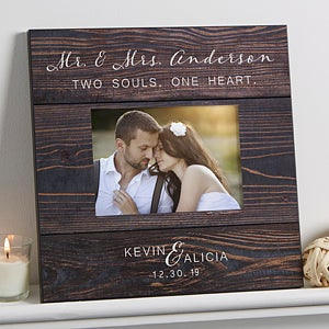 Personalized Wedding 5x7 Wall Frame - Rustic Elegance - 17111